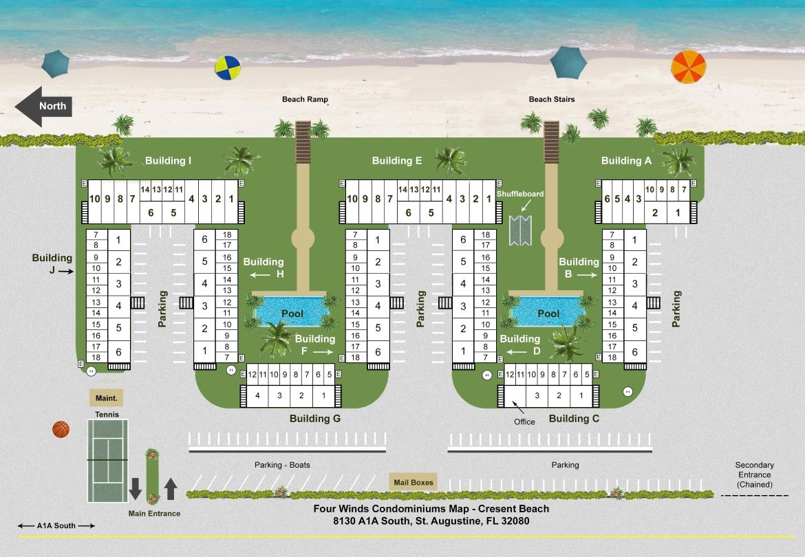 Four Winds Site Map